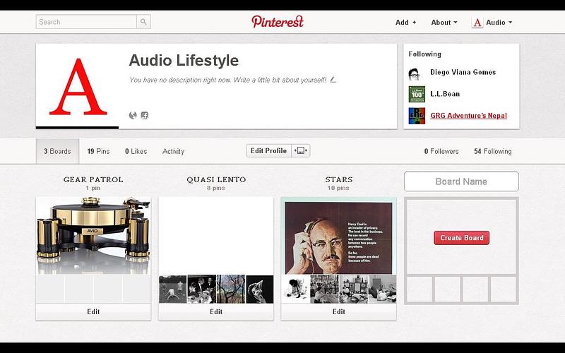 AUDIO LIFESTYLE & PINTEREST