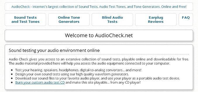 AUDIO CHECK